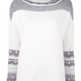 Cruciani - loose turtleneck jumper