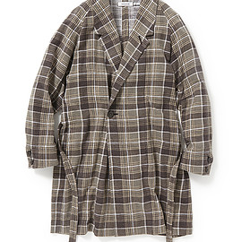 nonnative - SLEEPER GOWN COTTON FLANNEL PRINT CHECK VW