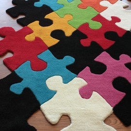 Kinderloom Puzzle Pieces Rug