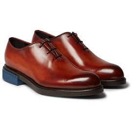 Berluti - Blake Whole-Cut Polished-Leather Oxford Shoes