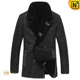 Cwmalls - Chicago Double-breasted Sheepskin Coat CW877055