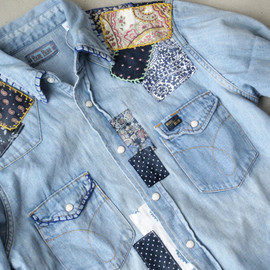 BLUEBLUE - HANDリメイク DENIM WST SHIRT