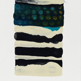 Lynn BASA - Study #6, 2013, encaustic wax on paper