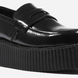 underground - Loafers Double Sole Hi-Shine Black Leather