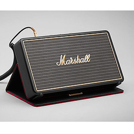 Marshall - STOCKWELL (BLACK) with Flip Cover - Bluetooth対応 ポータブル ワイヤレススピーカー