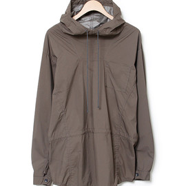 nonnative - HIKER HOODED SHIRT - NYLON MINI RIPSTOP WINDSTOPPER® 2L