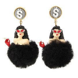 pameo pose - 【77th】BLACK LADY EARRING