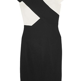 Roland Mouret - Tourney two-tone stretch-crepe dress