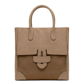 TILA MARCH - ZELIG CABAS PLAT LEATHER / CANVAS
