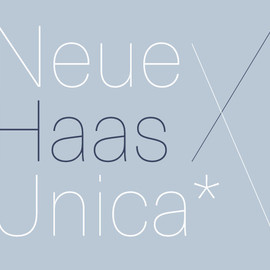Linotype - Neue Haas Unica