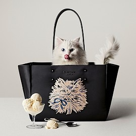 kate spade NEW YORK - 「EVERYTHING PUFFY CAT」LARGE TOTE