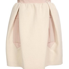 CARVEN - Cotton-canvas and grosgrain skirt
