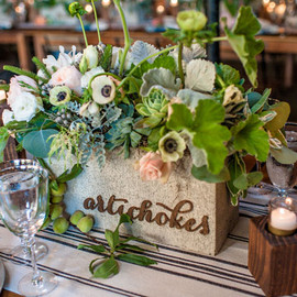 Green Wedding Shoes - veggie table names
