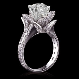 diamondsfromnewyork - 5 carat diamonds flower shape engagement