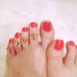TOPSHOP - LOVE TOE RINGS