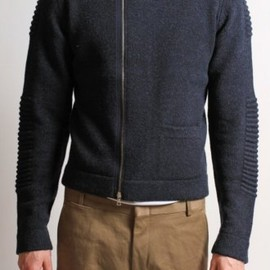 DRIES VAN NOTEN - Timothe Zip Cardigan in Midnight Blue