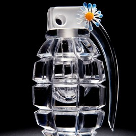 Layne Rowe - 'Picking Daisies' glass hand grenade