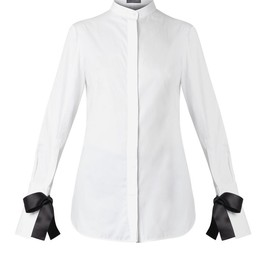 Alexander McQueen - Bow-fastening cuffs cotton shirt