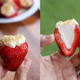 Cheesecake filled strawberries!!!