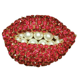Salvador Dali - Ruby Lips Pin