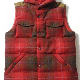 THE NORTH FACE PURPLE LABEL - THE NORTH FACE PURPLE LABEL(ザ ノースフェイス パープルレーベル) HARRIS TWEED DOWN VEST ND2283N