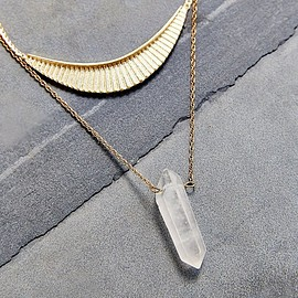 urban outfitters - Collective Crystal Layer Necklace