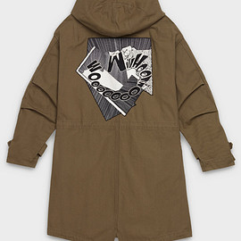 CELINE - SS2019 Military parka in cotton twill with CHRISTIAN MARCLAY 'WHOOMOOOOM' patch