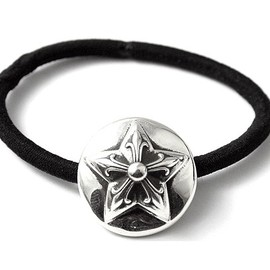 CHROME HEARTS - BAND #25 POINT STAR SILVER TOP