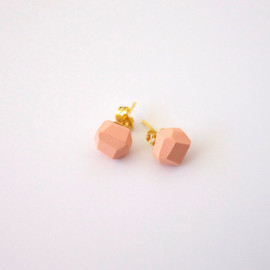 hot pink geo earrings