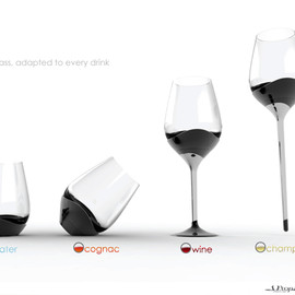 yanko design -  One Glass for Every Drink by Sven MILCENT & Utopik Design Lab