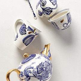 anthropologie - Jardin des plantes tea set