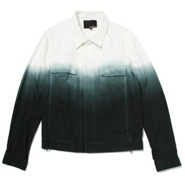3.1 Phillip Lim - classic fit jacket w/zipper slit and dip dye gradient