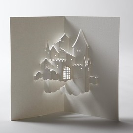 jackiehuang on Etsy - Castle in the Sky Pop-Up Card