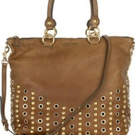 miu miu - Studded leather suede shoulder tote