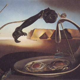 Salvador Dali - The Sublime Moment, 1938 -Oil on Canvas, 15 3/8 inches by 18 1/2 inches