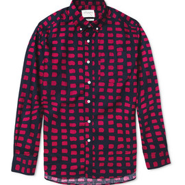 Saturdays Surf NYC - Crosby Printed Button-Down Collar Cotton Shirt