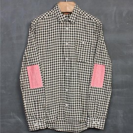 Albam - Elbow Patched Check Cotton Shirts
