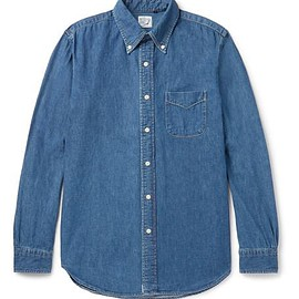 OrSlow - Button-Down Collar Denim Shirt