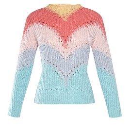 VALENTINO - SS2015 Rainbow intarsia-knit sweater