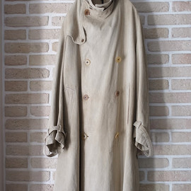 "LILY1ST VINTAGE - 1940's vintage german trench coat ""rare design"""