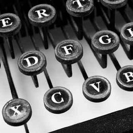 Fine Art America - Typewriter in Black and White - Peel and Stick Wall Decal by Wallmonkeys
