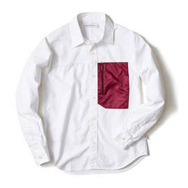 HEAD PORTER PLUS - NYLON POCKET SHIRT RED
