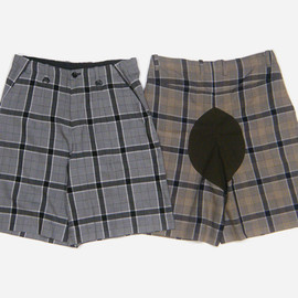 SUNSEA - Rayon check shorts