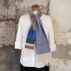 hola - hola one-off wool cotton stole slim 001