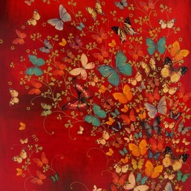 Lily Greenwood; Other, 2010 - Butterflies on Red