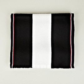 THOM BROWNE - Thom Browne Men's University Stripe Scarf in black at oki-ni