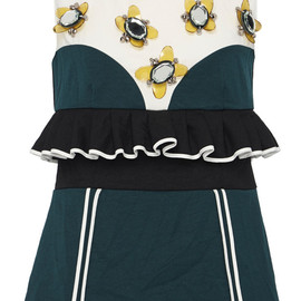 MARNI - Resort2015 Embellished Ruffle Waist Top