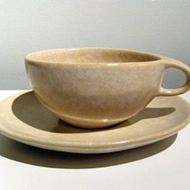 Raymor Modern Stoneware - Cup #150 & Saucer #151 Designed by Ben Seibel (Contemporary White)