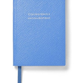 Smythson - Panama Consistently Inconsistent textured-leather notebook