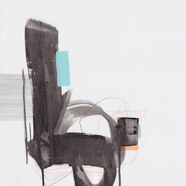 Jaime Derringer - Untitled8, 2013, acrylic, marker and pencil on paper